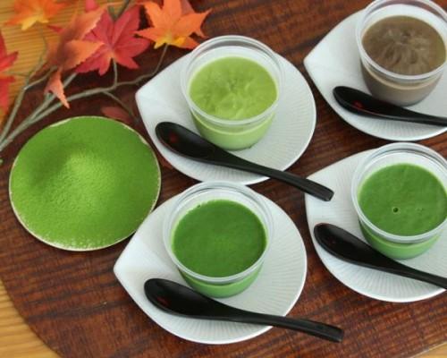 【極濃厚】4種の宇治茶プリン品種食べ比べセット(抹茶プリン2種・煎茶プリン・ほうじ茶プリン)