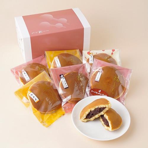 福どらのどら焼き 6個食べ比べセットA (杏あん、餡カスタード、つぶあん、栗いっぱい、生ちょこもち、生どら)