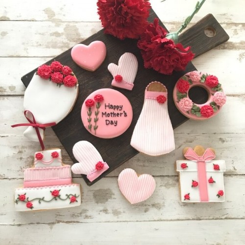 母の日アイシングクッキーセット ② 10枚 母の日2021