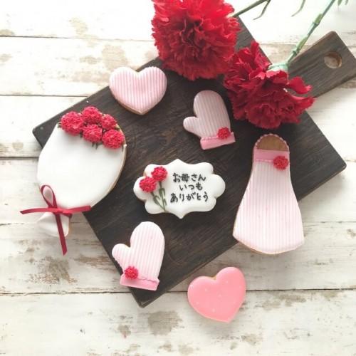 母の日アイシングクッキーセット ① 7枚 母の日2021