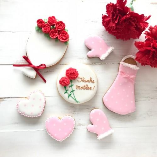母の日アイシングクッキーセット(水玉フリル柄)母の日2021