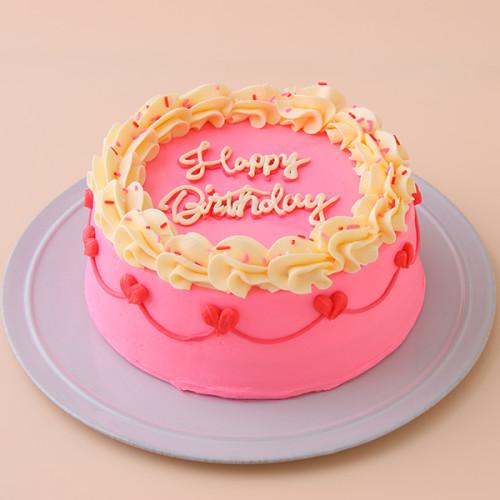 ビビッドピンクのヴィンテージケーキ 4号