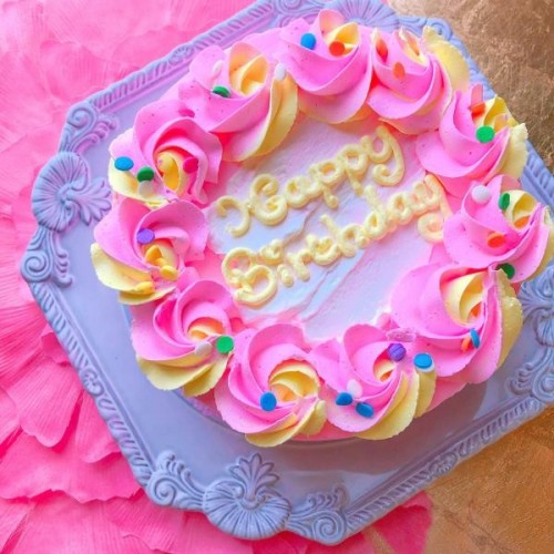 ポッピングローズセンイルケーキ