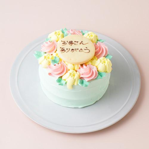 母の日お花畑デコレーション バタークリームケーキ 4号 12cm 母の日2021