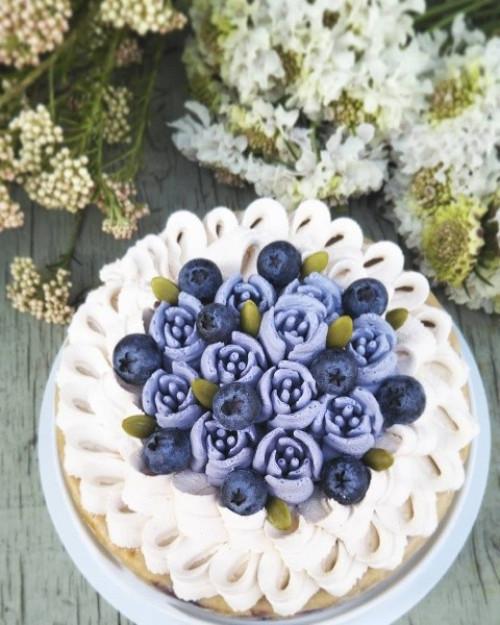 乳製品&小麦粉不使用!グルテンフリー! ブルーベリーチーズケーキ 15cm【ヴィーガンスイーツ・ヴィーガンケーキ】