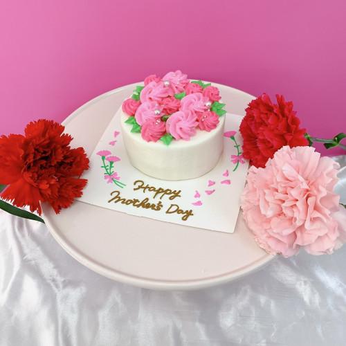 母の日ケーキ 【ピンク】