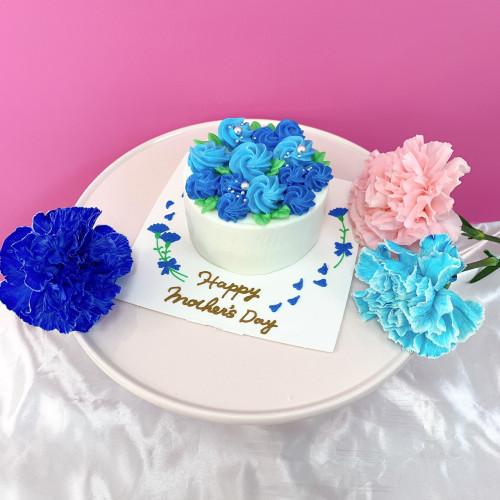 母の日ケーキ【ブルー】