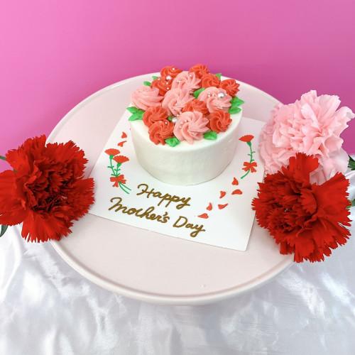 母の日ケーキ 【レッド】