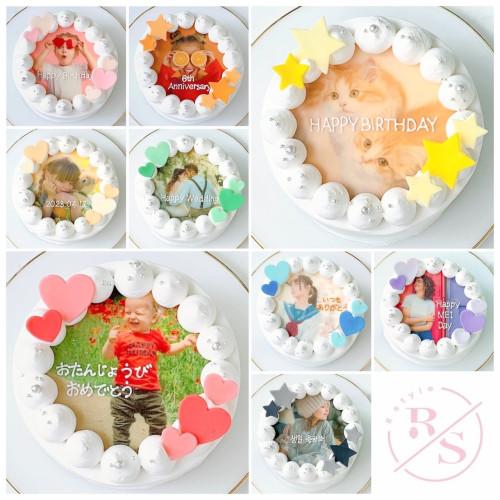 選べる8色♪写真ケーキ♡誕生日ケーキや記念日などのお祝いに♪(プリントケーキ、バースデーケーキ) 3号 9cm