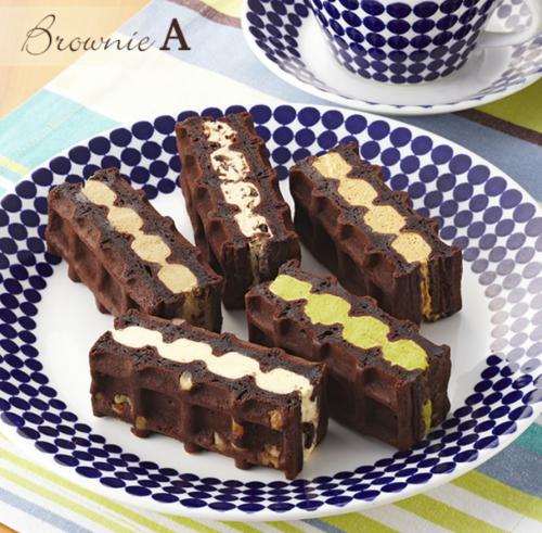 【送料無料】ブラウニー ワッフル 5種 セット A 濃厚 チョコレート  【ワッフル・ケーキの店R.L(エール・エル)】