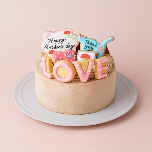 母の日2021 <br> mother's thanks生チョコショート <br> 4号 12cm