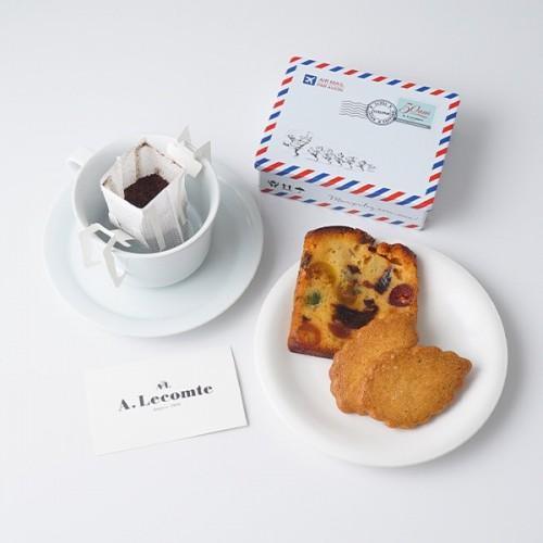 【フランス菓子の名店・ルコント】50周年記念ロゴ オリジナル缶入ギフトセット