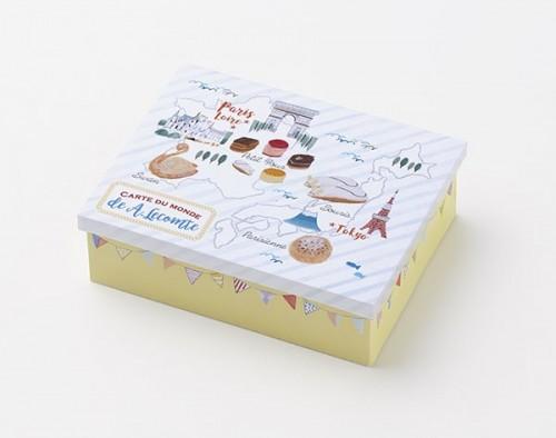 【フランス菓子の名店・ルコント】【50周年記念】地図イラスト オリジナル缶入ギフトセット