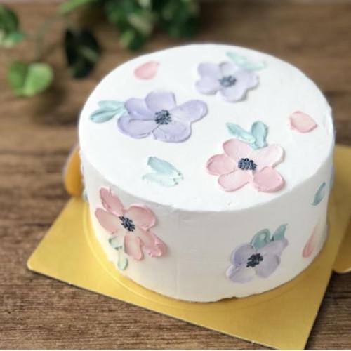 フラワーペイントケーキ 4号 12cm