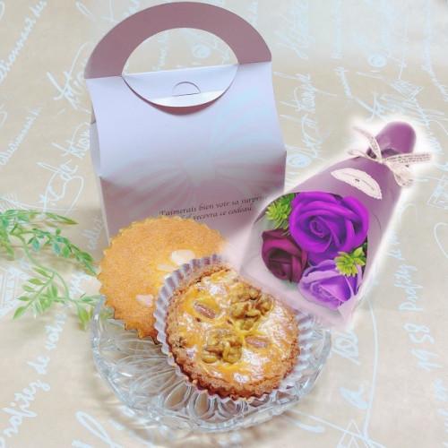 敬老の日 シャボンフラワー(パープル)と焼き菓子セット
