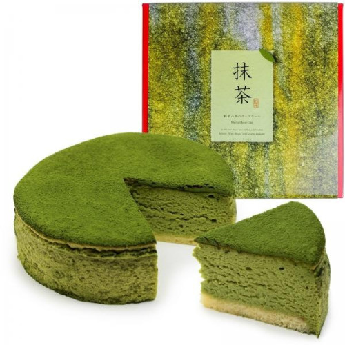 抹茶スフレチーズケーキ 5号 【15cm:4~6人分】| 魔法洋菓子店ソルシエ