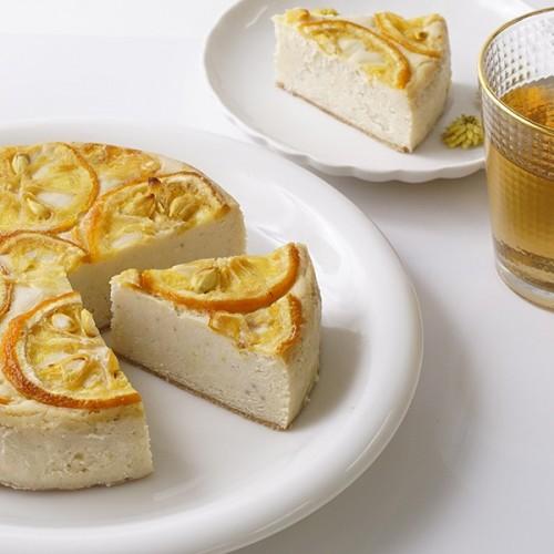 ヴィーガンベイクドチーズ ケーキ 無農薬ゆず 5号【ヴィーガンスイーツ】