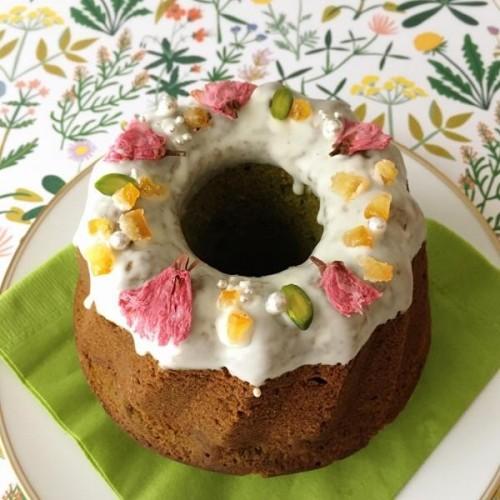 季節のクグロフケーキ ゆず抹茶味