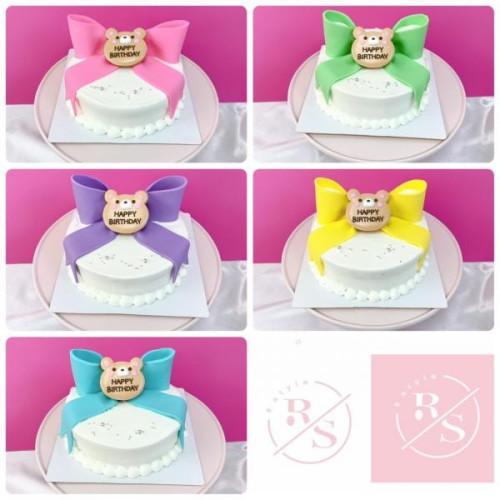 くまのリボンケーキ♡選べる8色!誕生日や記念日に♪