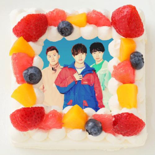 【アバンティーズ】四角型写真ケーキ 4号 12cm