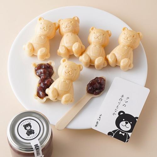 クマの手作りもなか くまの形をした最中セット (5個入り) 個包装 箱入り グルテンフリー 賞味期限1ヵ月