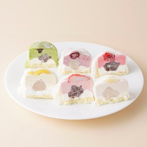 冷凍 人気の6種類セット ムース大福6個入 苺 栗 ラズベリー ブルーベリー 抹茶 桃 クリーム大福 フルーツ大福