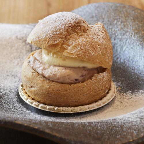 【日本で唯一の「和栗専門店」和栗や】Mont Blanc ICE  &  Mont Blanc Chou(アイス3個・シュー2個)
