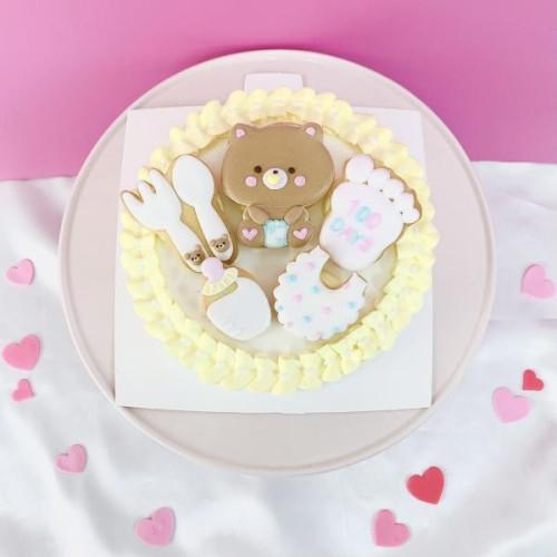 お食い初めケーキ♡100日祝いに♪