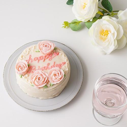 【3種の生地より選択可】3号あんバターフリーメッセージフラワーケーキ  【センイルケーキ】 お歳暮2021