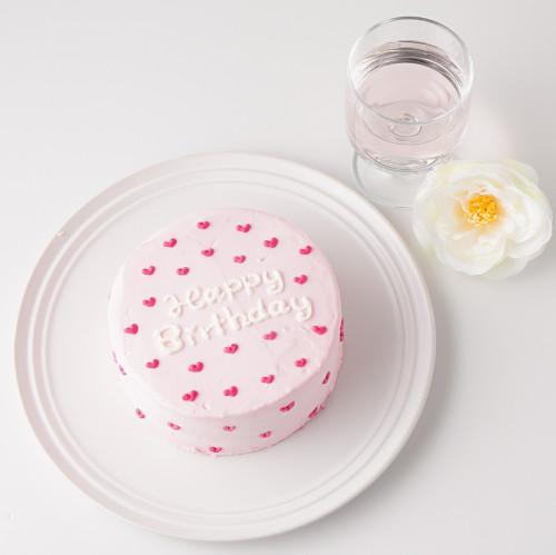 ハート柄のセンイルケーキ【色が選べる】 4号