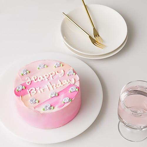 ペタペタセンイルケーキ小花柄付き【色が選べる】 4号
