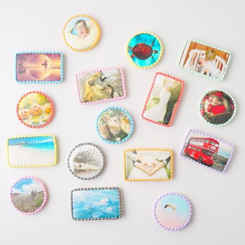 選べる8色♡プリントクッキー(写真クッキー) 2枚