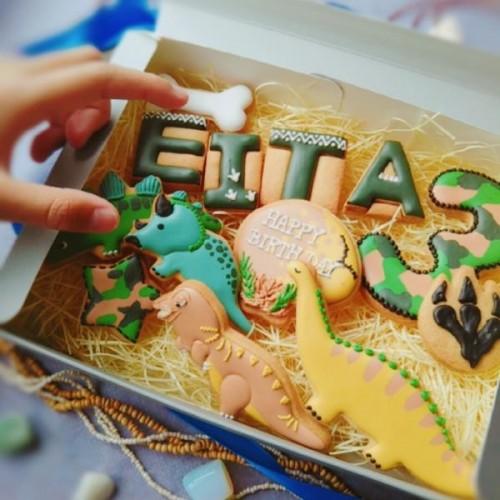 恐竜4種アイシングクッキー~誕生日セット~