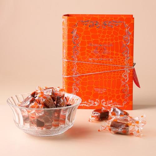 【数量限定 / 50%off】フランス直輸入 オレンジチョコレート キャラメル 20粒 アウトレット