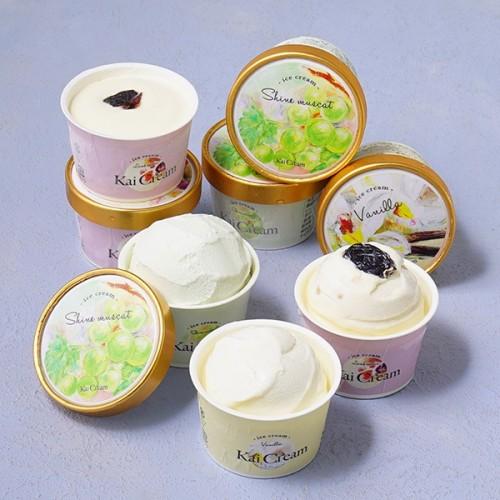 ぶどうの里やまなしの贅沢ぶどうアイス 8個入