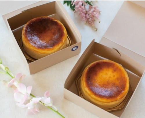 【セット販売】とけだすバスクチーズケーキ2個セット(プレーン&塩味) ホールケーキ 12cm