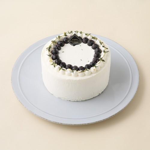 グルテンフリーケーキ、米粉ケーキ、低糖質ケーキ、ブルーベリーデコレーションケーキ 4号 12cm