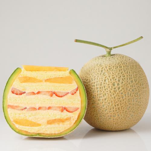 【ご好評のため販売期間延長】まるごとメロンケーキ 赤肉バージョン