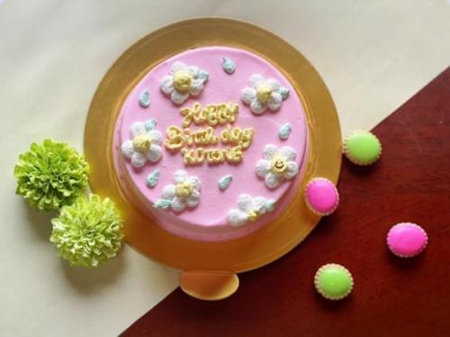 カラーが選べる フラワーセンイルケーキ 4号