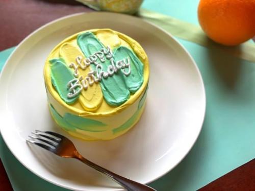 お好みの2色でカスタマイズ!ペイントケーキ 4号 センイルケーキ