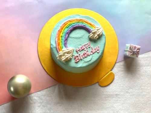 カラーが選べる!レインボーセンイルケーキ 4号