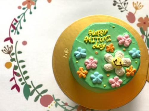 カラーが選べる!フラワーセンイルケーキ 4号