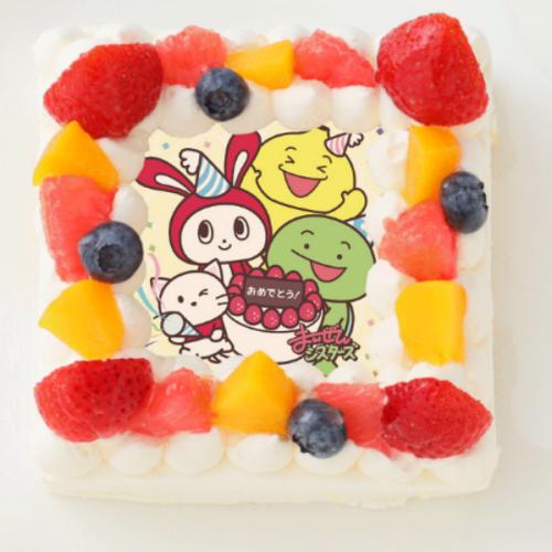 【まいぜんシスターズ】四角型写真ケーキ 4号 12cm