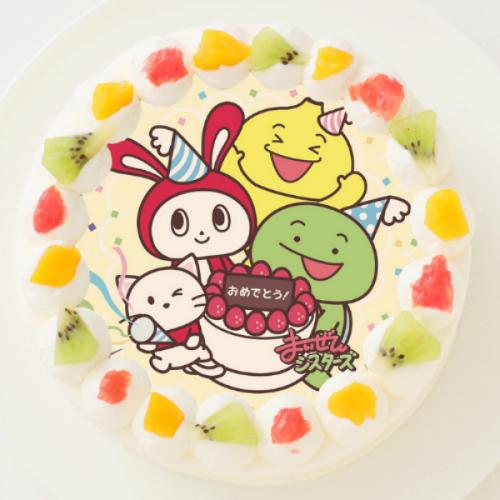 【まいぜんシスターズ】丸型写真ケーキ 3号 9cm