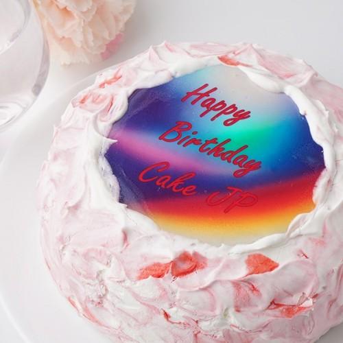 カラーが選べる センイルケーキ5号メッセージプレート【センイルケーキ】