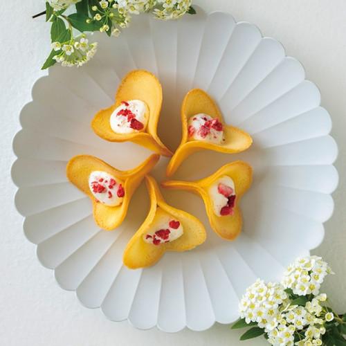 【KINEEL】 ルフル・バニラ(8個入)お花の形のかわいいラングドシャスイーツ(焼菓子8個セット):95008