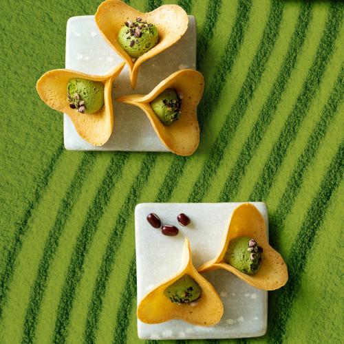 【KINEEL】 ルフル・抹茶(8個入)お花の形のかわいいラングドシャスイーツ(焼菓子8個セット)
