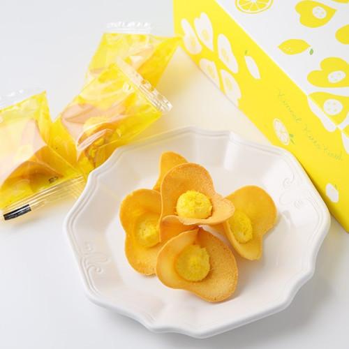 【KINEEL】 ルフル・レモンココナッツ(8個入)お花の形のかわいいラングドシャスイーツ(焼菓子8個セット):95158