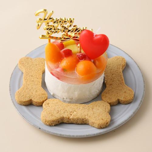 犬用 バースデーケーキ クリームデコレーション 2号サイズ(120g)【 小型犬~中型犬 用 】