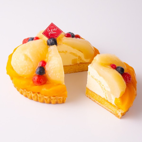 【イタリアントマト】洋梨と黄桃のフルーツタルト  5号(15cm)